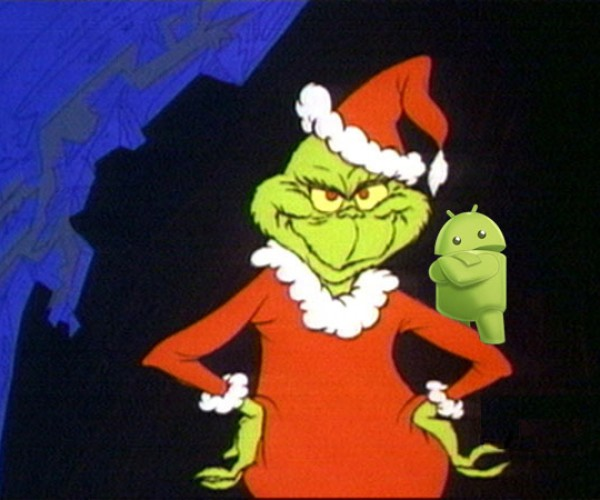 Android 4.2 Flaw Deletes December… You're a Mean One, Mister Grinch.