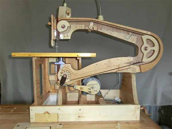 handmade wooden scroll saw