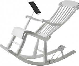 iRock Rocking Chair Charges Your iPad While You Rock