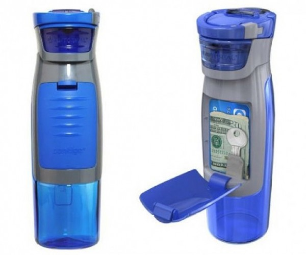 Kangaroo Bottle Has a Plastic Pouch for All Your Essential Stuff