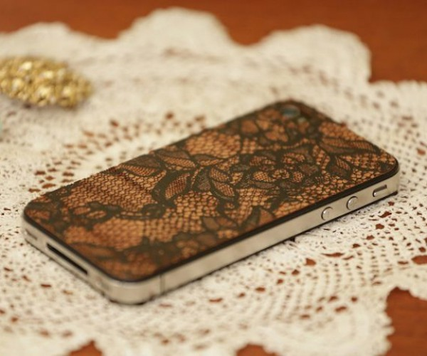 LazerWood Lace iPhone Cover Shows of Your iPhone's Sexy Underthings
