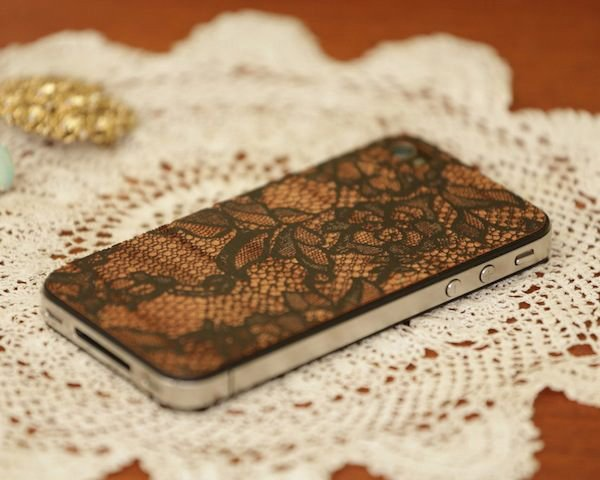 lace iphone cover lazerwood back wood