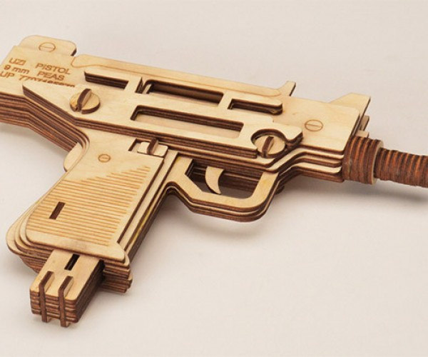 Laser-Cut Wood Guns Don't Even Fire Wooden Bullets at Vampires