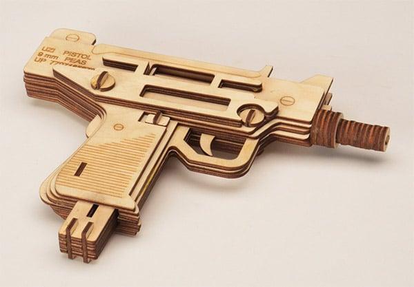 lazer wood uzi