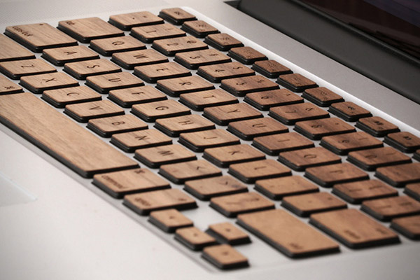 lazerwood mac book wood keyboard 1