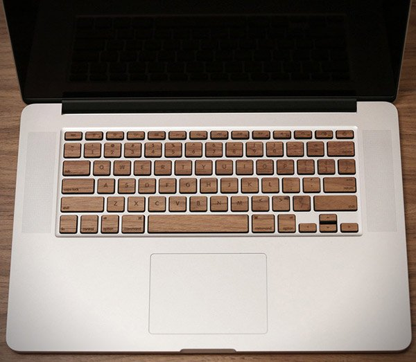 lazerwood mac book wood keyboard 2