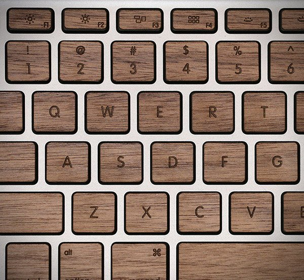 lazerwood mac book wood keyboard 3