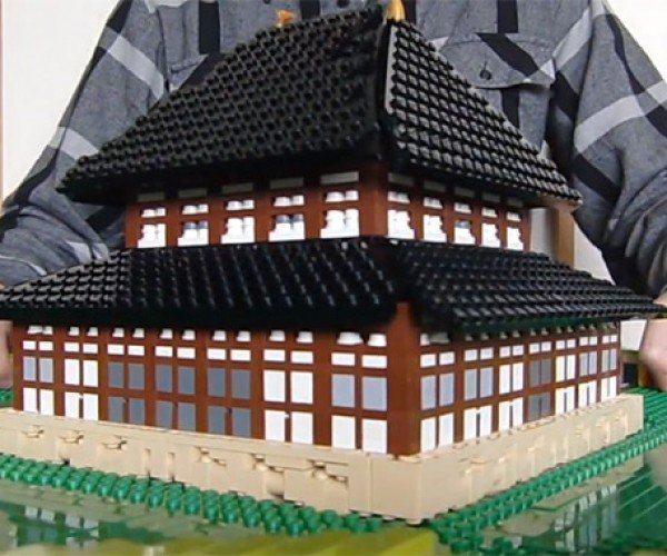 LEGO Pop-up Building Makes Eyeballs Pop out of Their Sockets