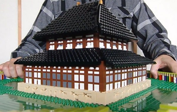 lego pop up building