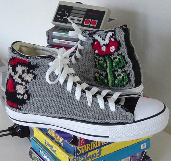 mario knit chuck taylors