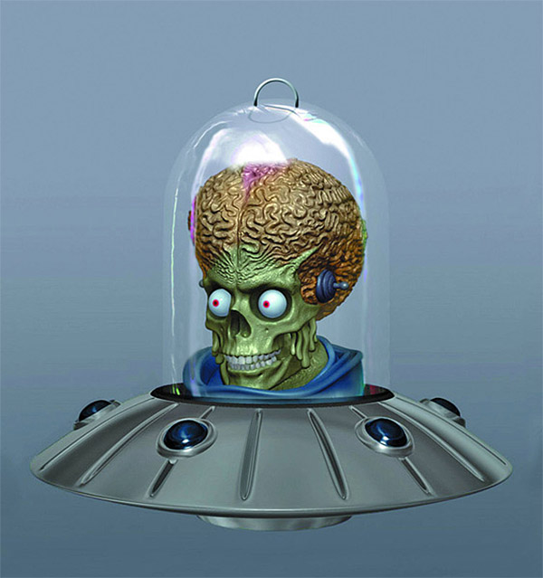 mars attacks christmas ornament