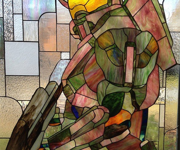 Master Chief Stained Glass is a Masterpiece of Halo Fan Art