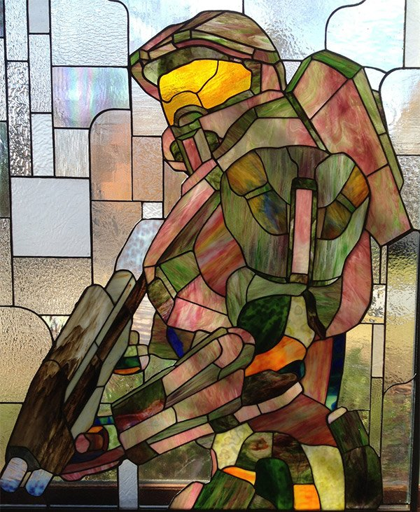 master chief stained glass 1