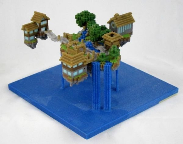 Minecraft 3D Prints Bring Your Creations to Life - Technabob