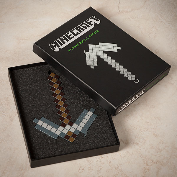 minecraft pickaxe bottle opener from thinkgeek 3