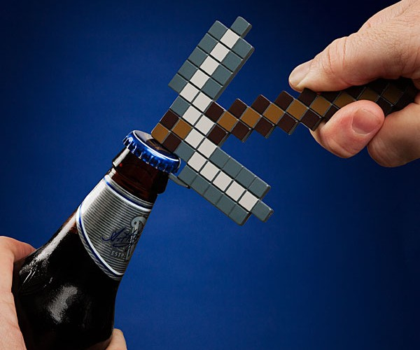 Minecraft Pickaxe Bottle Opener Digs Up Drinks