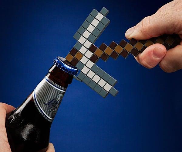 Minecraft Pickaxe Bottle Opener Digs Up Drinks