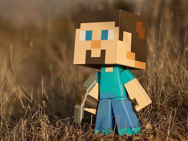Minecraft Steve Vinyl Action Figures Won T Dig A Hole In