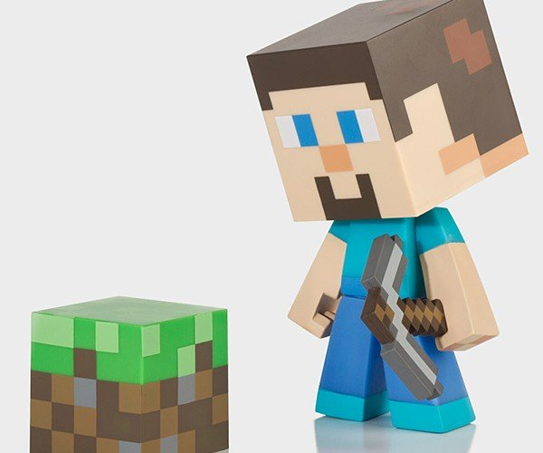 minecraft steve vinyl action figures 3