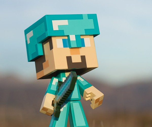 minecraft steve vinyl action figures 6