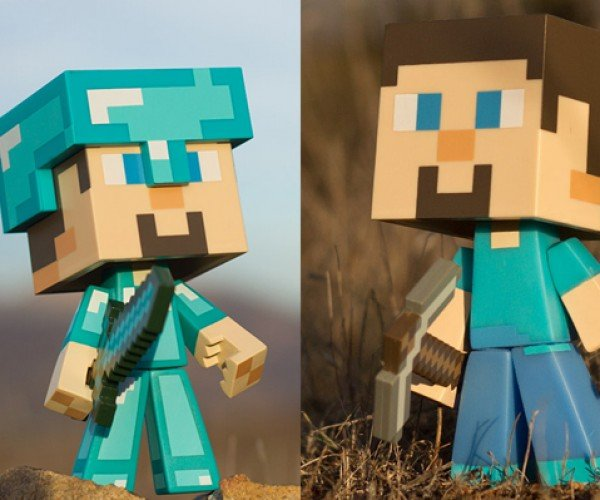 Minecraft Steve Vinyl Action Figures Won't Dig a Hole In Your Pocket