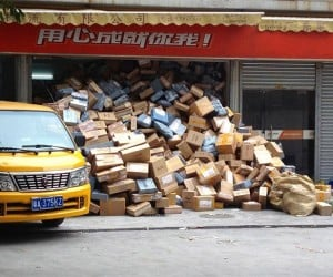 China Digging out from Literal Mountains of Packages