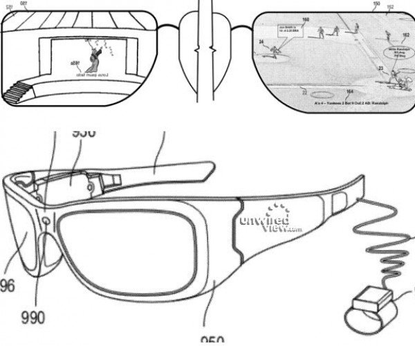 Microsoft Patent Hints at Google Project Glass Competition