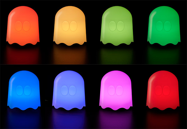 pac man ghost lamp colors