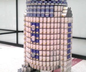 R2-D2 Made out of Cans: Anyone Got an Opener?