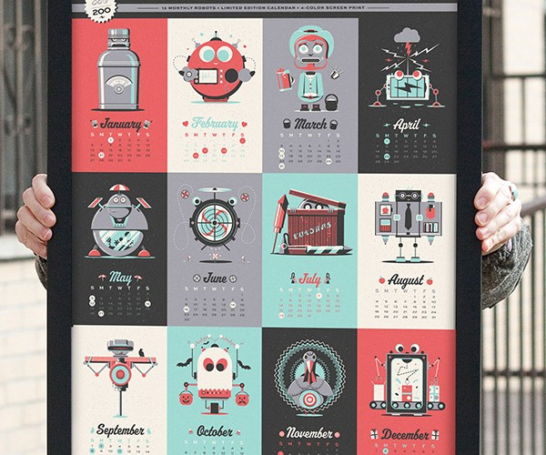 2013 Robot Calendar: A 'Bot for Every Month