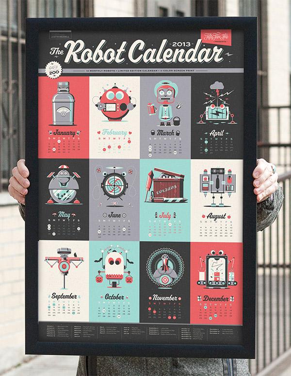 robot calendar 2
