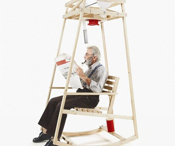 The Chair That Knits While You Rock
