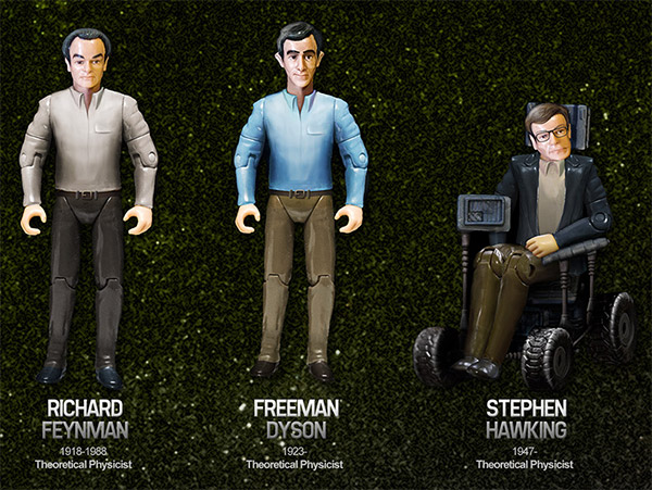 science action figures