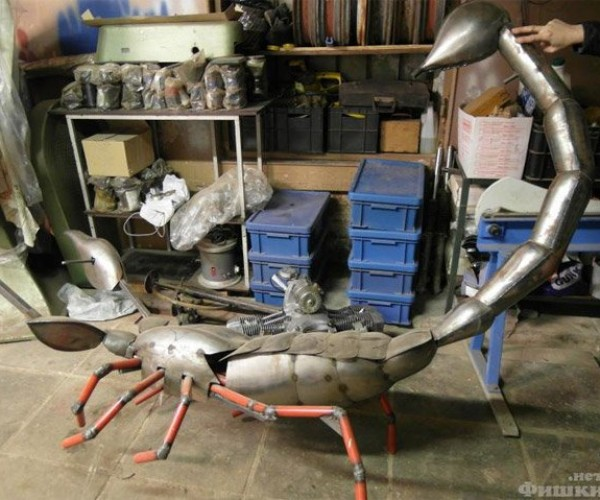 Scrap Metal Scorpion Hammock Adds Some Sting to Your Nap