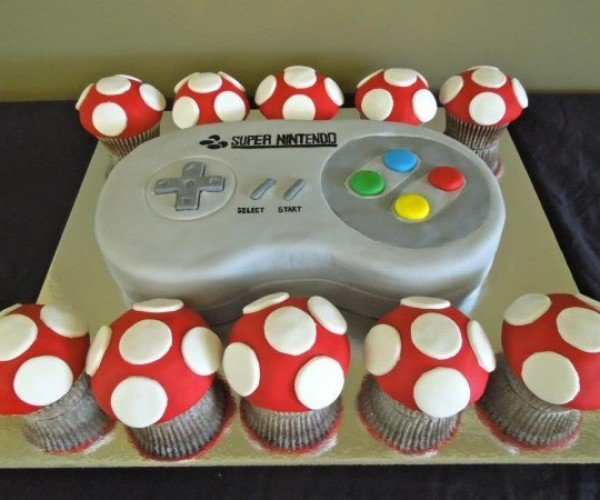SNES Controller Cake Makes Button-Mashing Messy