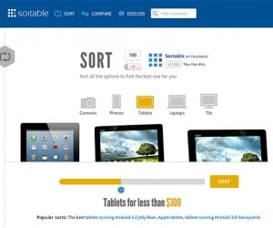 Win an iPad 4, Nexus 4 or Kindle Paperwhite from Sortable!