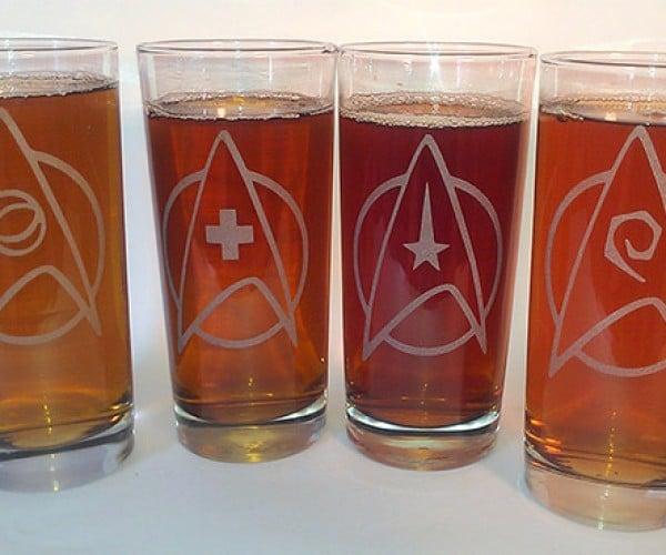 Star Trek Drinking Glasses: Beer, the Final Frontier