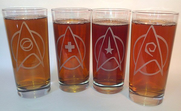 star trek drinking glasses 2
