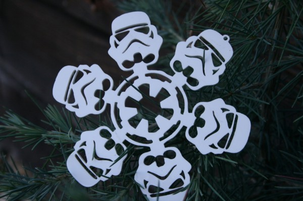 boba flake  star wars laser-cut snowflake ornaments