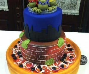 TMNT Wedding Cake: The Caterer Served Pizza