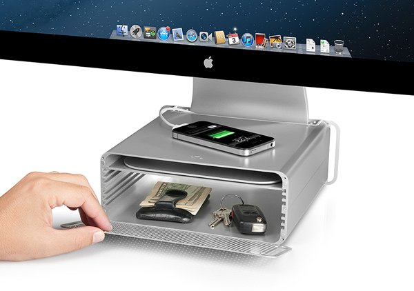 twelvesouth hirise mac acd stand storage apple imac