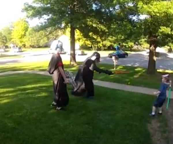 Navy Soldier Surprises Son Dressed as Darth Vader