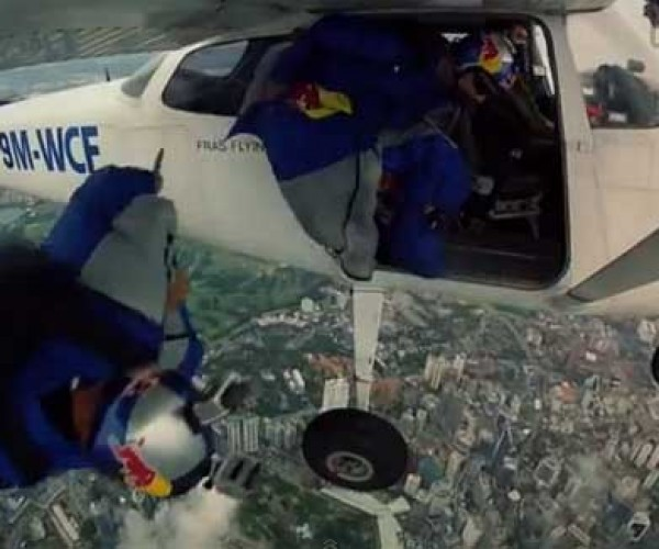 Red Bull Wingsuit Pilots Fly Between the Tallest Towers in Malaysia