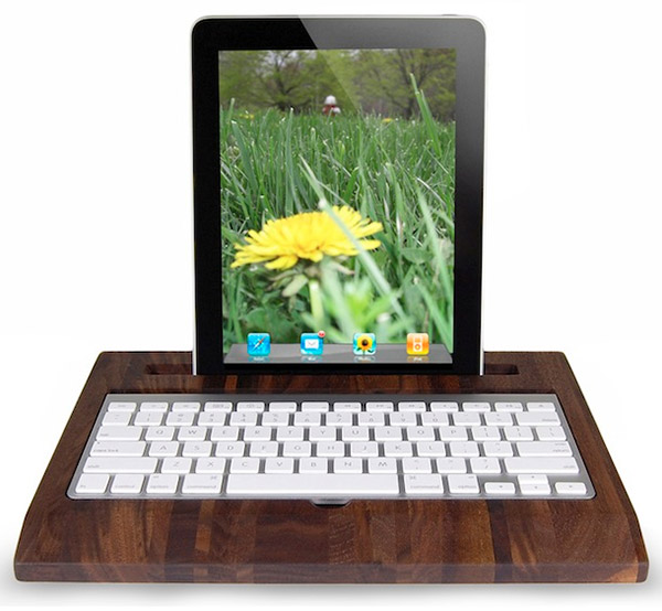 wooden ipad station 1