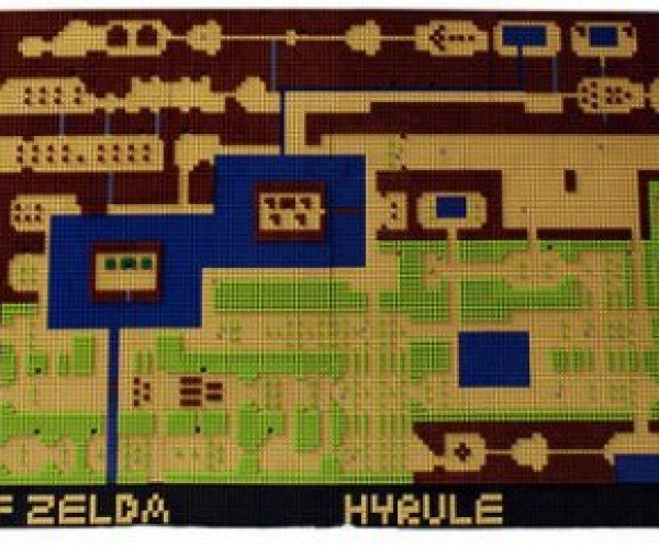 Legend Of Zelda LEGO Hyrule Map: It's Dangerous to Go Along, Take Bricks
