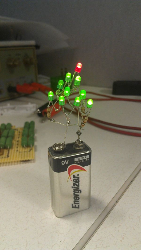 9 volt christmas tree makes decorating easy