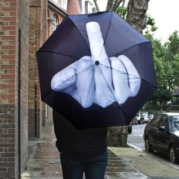 Finger Up Umbrella