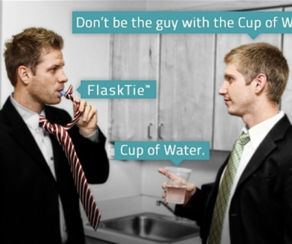 FlaskTie: For Professional Drinkers Only