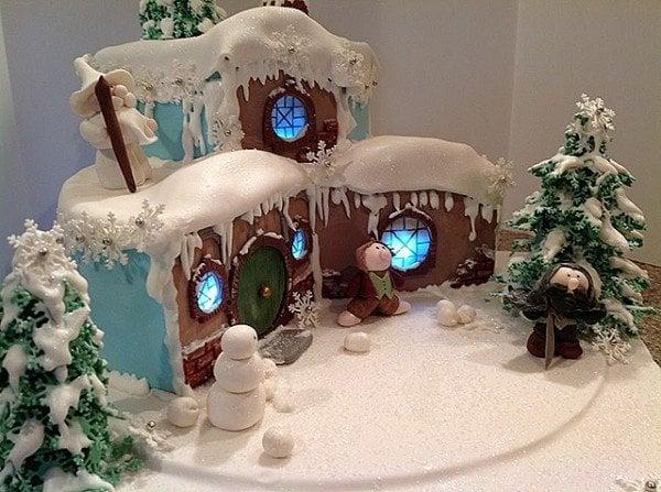 Hobbit White Christmas Cake