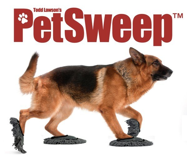 Dog Mop Shoes >> Pet Sweep Puts Man's Best Friend to Work